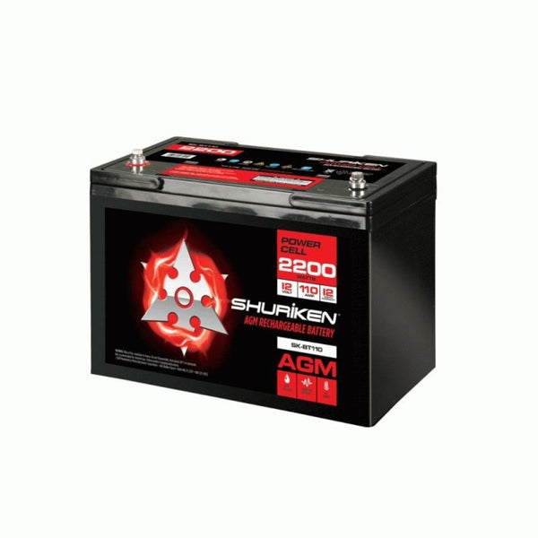 Shuriken SK-BT110, 2200W 110AMP Hours Large Size AGM 12V Battery