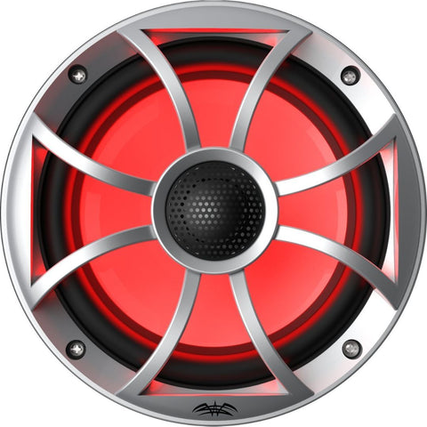 "Wet Sounds RECON 6-S RGB, Recon RGB Series 6.5"" Coaxial Speakers XS Silver Grill Gun Metal Cone - Silver"