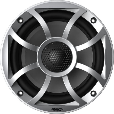 "Wet Sounds RECON 5-S, Recon Series 5"" Coaxial Marine Speakers XS Silver Grill Gun Metal Cone - Silver"
