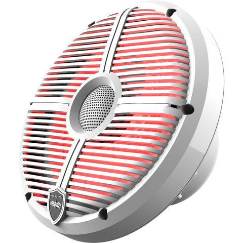 "Wet Sounds RECON 8 XW-W RGB, Recon RGB Series 8"" Coaxial Speakers XW White Grill White Cone - White"