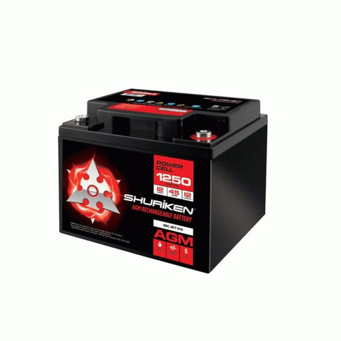 Shuriken SK-BT45, 1250W 45AMP Hours Compact Size AGM 12V Battery