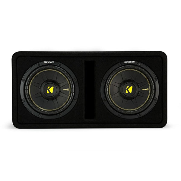 "Kicker DCWC102, Dual CompC 10"" Subs in Vented Enclosure, 2-Ohm, 600W (44DCWC102)"