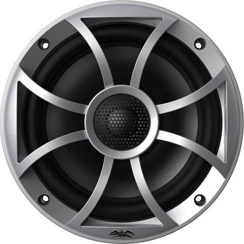 "Wet Sounds RECON 6-S, Recon Series 6.5"" Coaxial Speakers XS Silver Grill Gun Metal Cone - Silver"