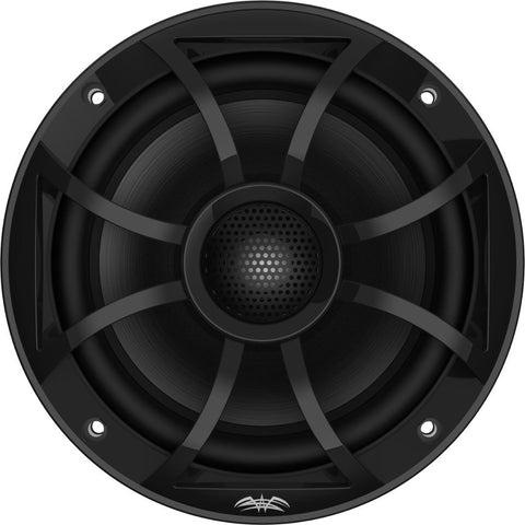 "Wet Sounds RECON 6-BG, Recon Series 6.5"" Coaxial Speakers XS Black Grill Gun Metal Cone - Black"