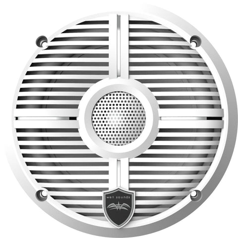 "Wet Sounds RECON 6 XW-W, Recon Series 6.5"" Coaxial Speakers XW White Grill White Cone - White"