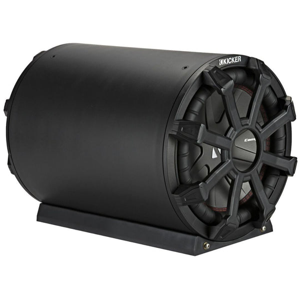"Kicker CWTB104, TB 10"" Subwoofer and Passive Radiator in Weather-Proof Enclosure, 4-Ohm, 400W (46CWTB104)"