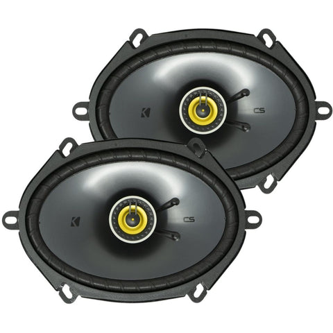 "Kicker CSC684, CS Series 6x8"" Coaxial Speakers (46CSC684)"