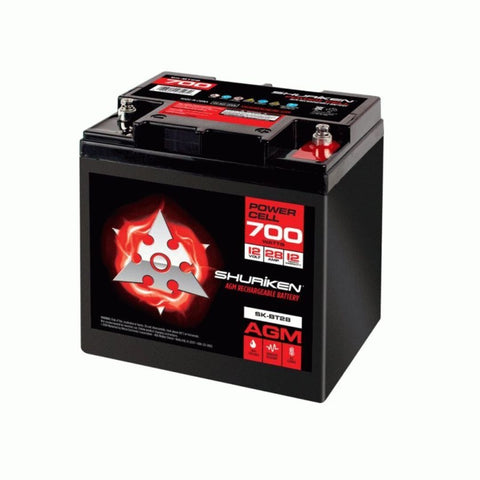 Shuriken SK-BT28, 700W 28AMP Hours Compact Size AGM 12V Battery
