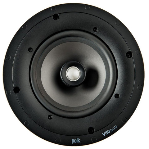 "Polk Audio V60Slim, Vanishing V Series 6.5"" Slim High Performance In-Ceiling Speaker"