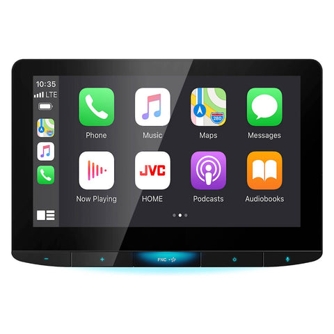 "JVC KW-Z1000W, 10.1"" Floating Monitor Multimedia Receiver w/ Apple CarPlay¨ and Android Auto¨ (Does not play DVD/CD discs)"