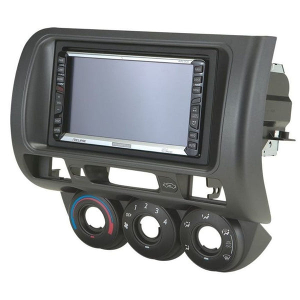 Scosche HA1558B, 2007-2008 Honda Fit ISO Double DIN & DIN+Pocket, Dark Gray