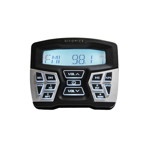 Hifonics TPS-MR1, TPS-MR1 In Dash Gauge Mount Radio with Bluetooth and Marine Certified