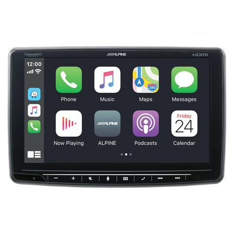 "Alpine iLX-F409, Halo 9"" Touchscreen Digital Multimedia Receiver w/ CarPlay & Android Auto"
