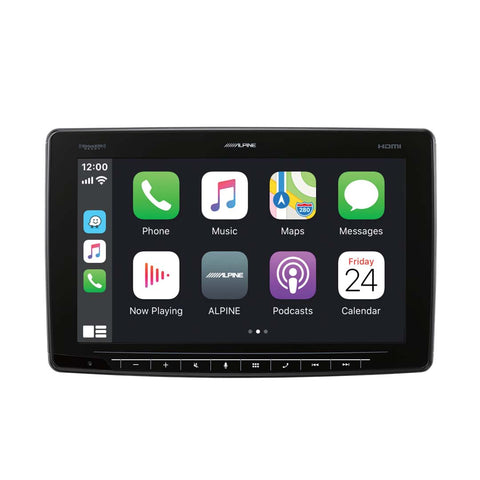 "Alpine iLX-F411, Halo 11"" Touchscreen Digital Multimedia Receiver w/ CarPlay & Android Auto"