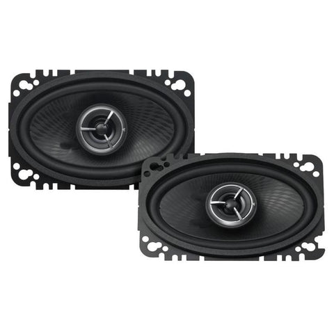 "Kenwood KFC-X463C, eXcelon 4x6"" 2-Way Coaxial Car Speakers, 100W"