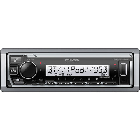 Kenwood KMR-M328BT, Marine / Motorsports Digital Media Receiver w/ Bluetooth and SiriusXM (Does not play CDs)