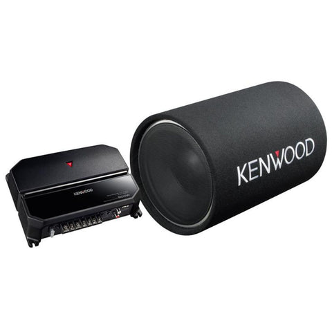 "Kenwood P-W131TB, 12"" Subwoofer Package w/ Kenwood Amplifier KAC-5207 and Loaded Subwoofer Tube"