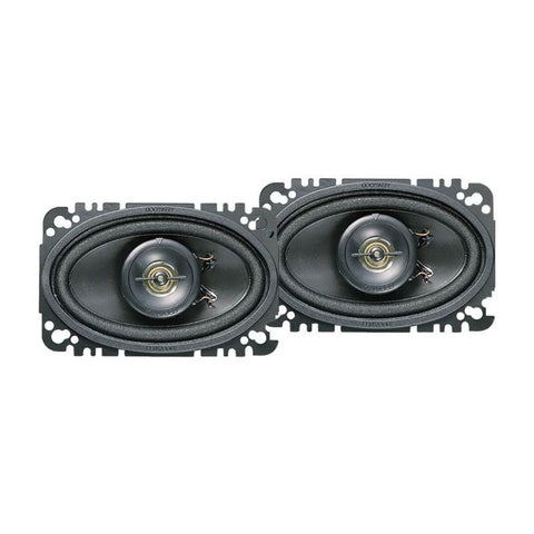 "Kenwood KFC-4675C, Sport Series 4x6"" 2-Way Coaxial Full Range Car Speakers, 60W"