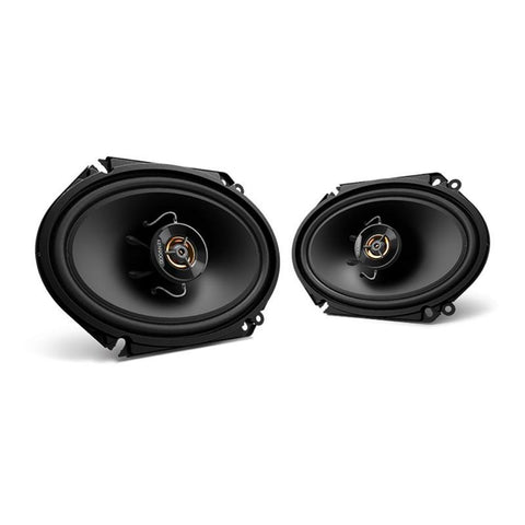 "Kenwood KFC-C6866S, Sport Series 6x8"" 2-Way Coaxial Full Range Car Speakers, 250W"