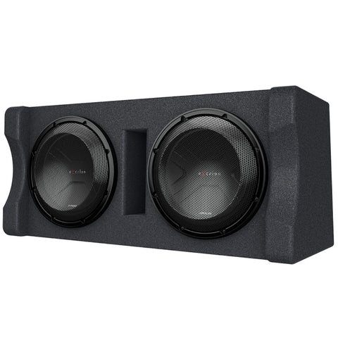 "Kenwood P-XW1221D, eXcelon Dual 12"" 2 Ohm Loaded Subwoofer Enclosure - 2000W"