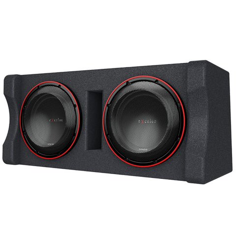 "Kenwood P-XW1221DHP, eXcelon Dual 12"" 2 Ohm Loaded High Power Subwoofer Enclosure - 2000W"