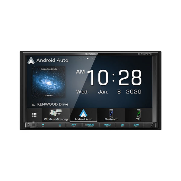 "Kenwood DMX9707S, 6.95"" Digital Multimedia Receiver w/ Wireless CarPlay and Android Auto (Does not play CDs)"
