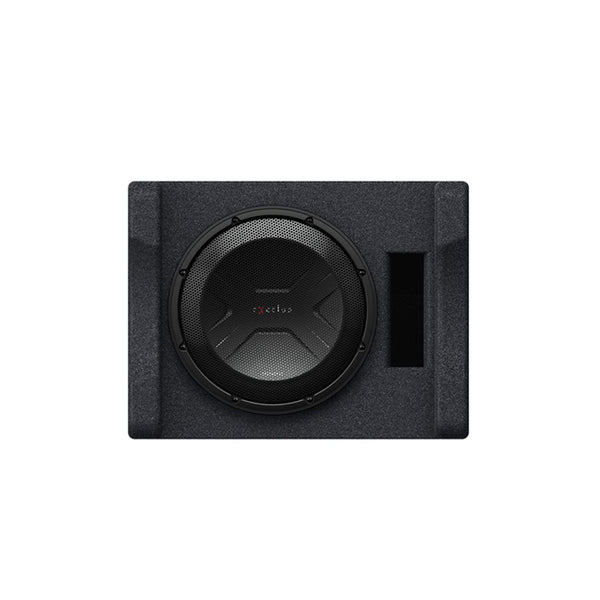 "Kenwood P-XW1241S, eXcelon Single 12"" 4 Ohm Loaded Subwoofer Enclosure - 2000W"