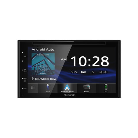 "Kenwood DDX57S, 6.8"" WVGA Monitor Double Din DVD Receiver w/ Apple CarPlay™ and Android Auto™"