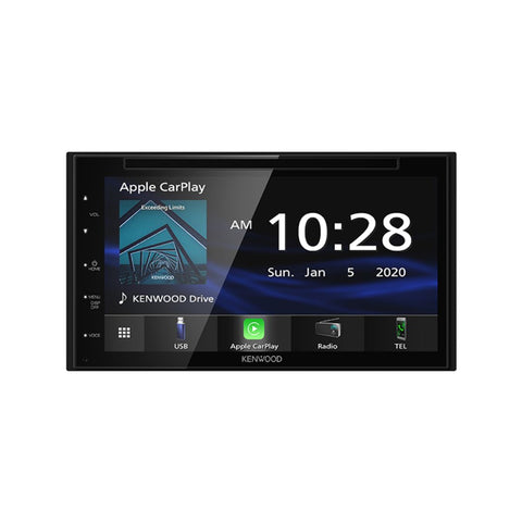"Kenwood DDX5707S, 6.8"" WVGA Monitor Double Din DVD Receiver w/ Apple CarPlay™ and Android Auto™"