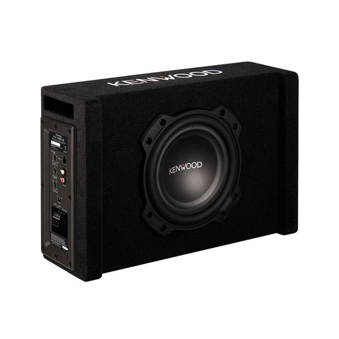 "Kenwood PA-W801B, 8"" Active Loaded Subwoofer w/ Ported Enclosure - 400W"