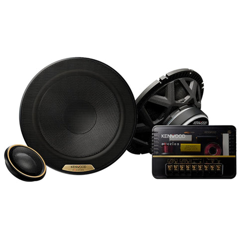 "Kenwood XR-1801P, eXcelon Reference 7"" HiRes Oversized Woofer 2 Way Component Speaker System, 330W"