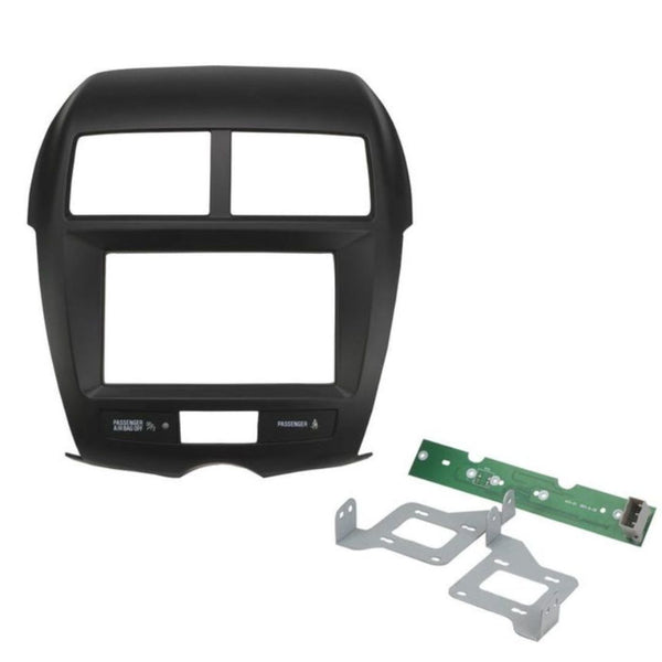 Scosche MI3022GB, 2011-Up Mitsubishi Outlander Sport ISO Double DIN Kit, Gloss Metallic Black