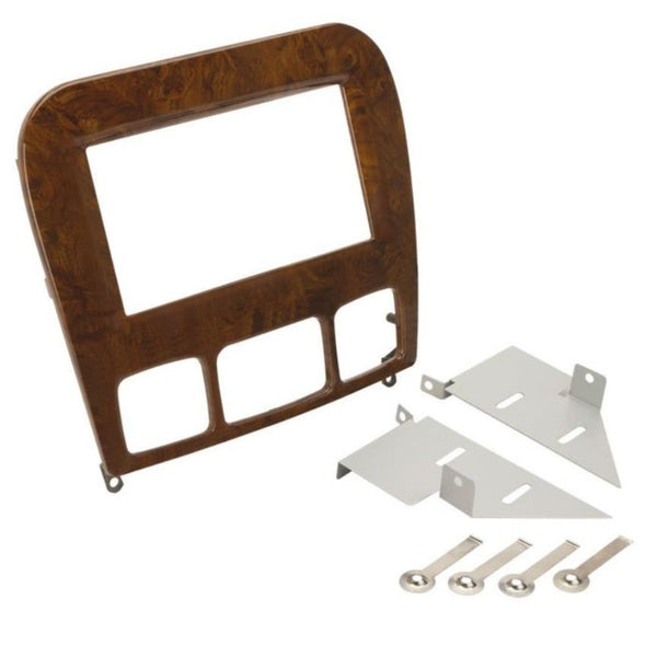 Scosche MZ2354WDDB, 1998-2005 Mercedes Benz S Class ISO Double DIN Kit; Wood Look Finish