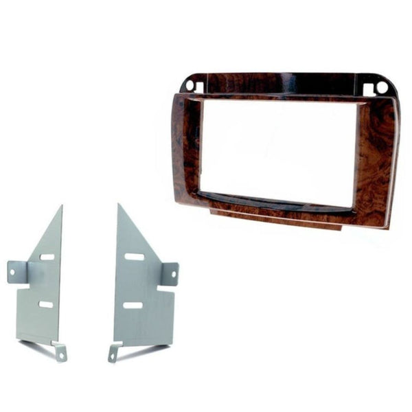 Scosche MZ2355DDB, 1998-2005 Mercedes CL500 ISO Double DIN Dash Kit; Wood Look