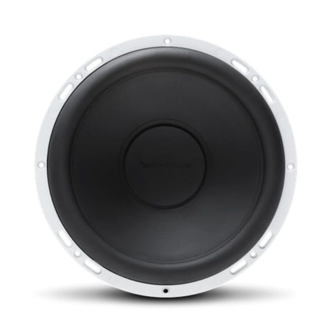 "Rockford Fosgate RM112D2, Prime White 12"" Marine 2 Ohm Dual Voice Coil Subwoofer, 400W"