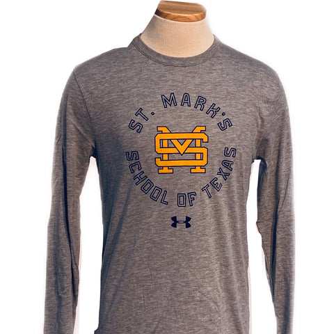 Under Armour BiBlend Long Sleeve Gray Tee