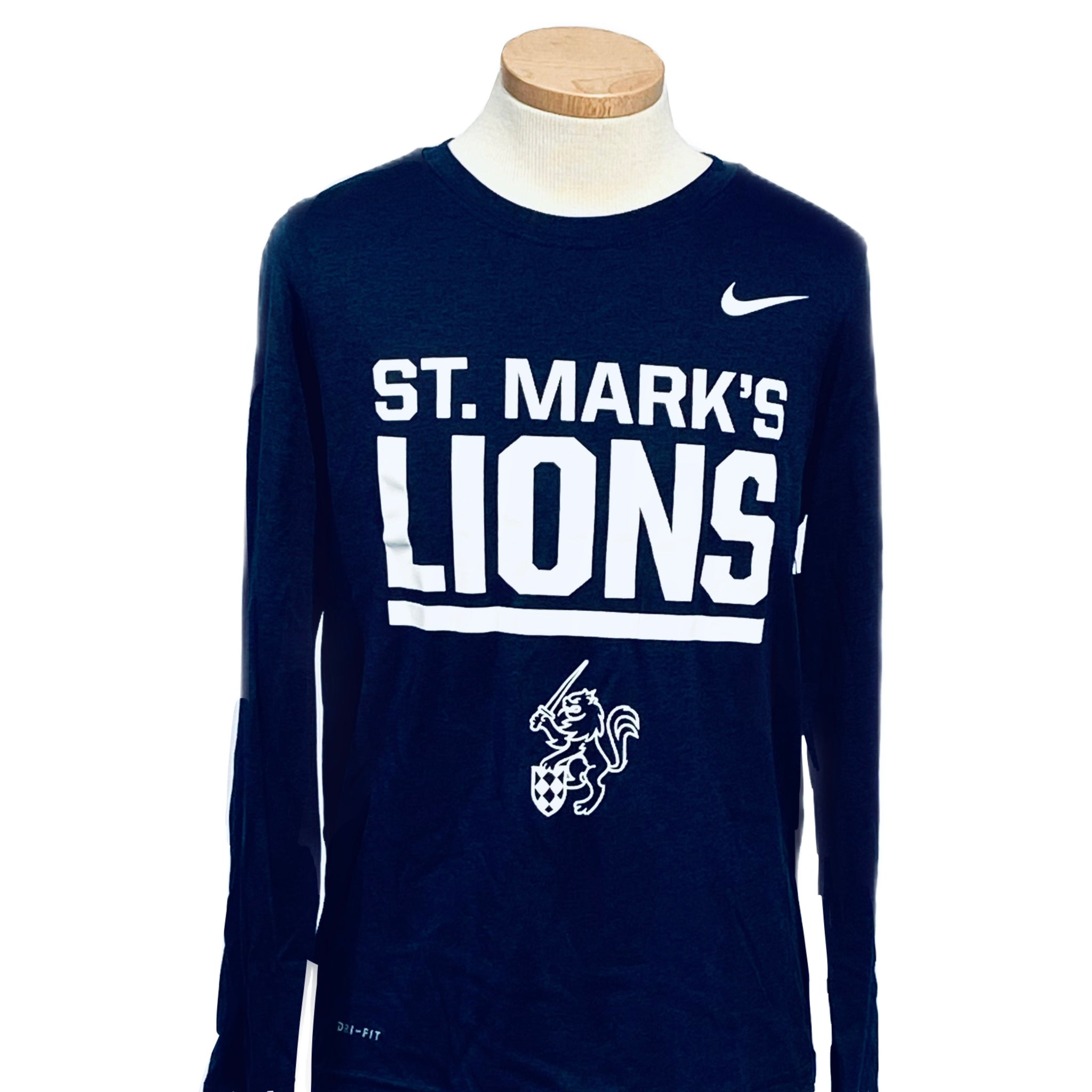 Nike Boys' Legend Dri-FIT Long Sleeve Tee with Lion and Sword