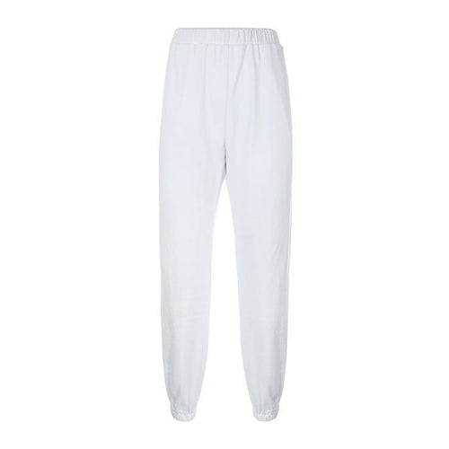 Casual Solid Color Drawstring Pant