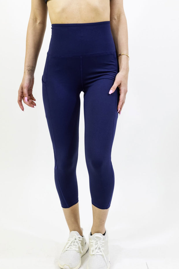 High Waisted Yoga Capri Legging-Just Women Leggings
