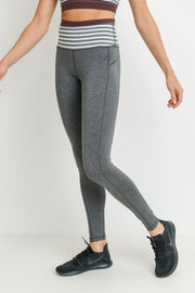 Heather Striped High Waist Legging