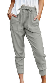 Women's Gray Pockets Pant