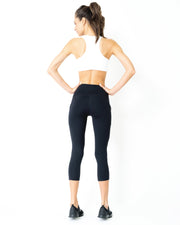 High-Waisted Capri Legging-Just Women Leggings