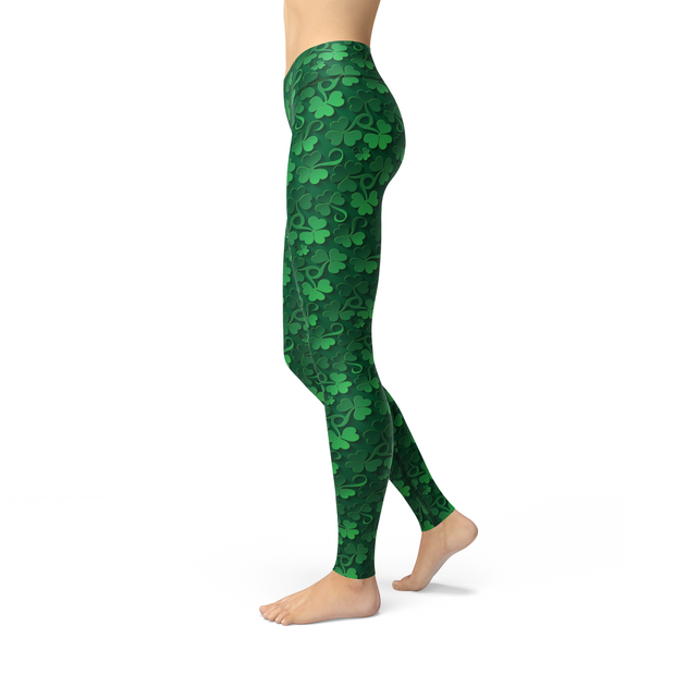 Jean Clovers All Over Legging-Just Women Leggings