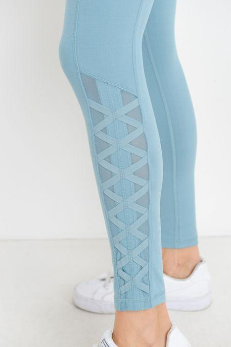 Highwaist Hybrid Mesh Legging-Just Women Leggings