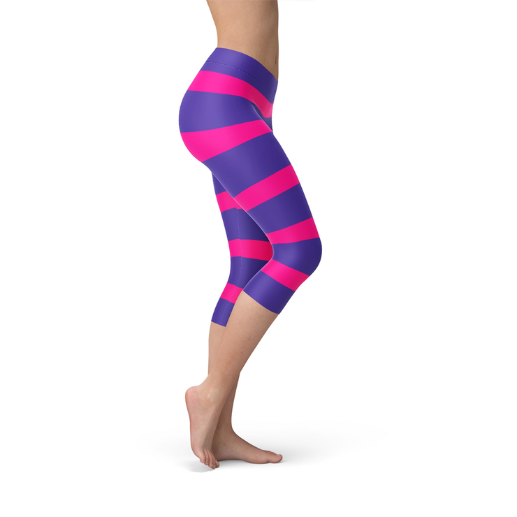 Cheshire Cat Capri Leggings-Just Women Leggings
