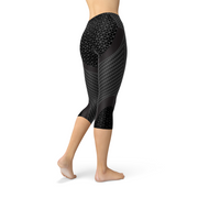 Womens Carbon Capri Legging-Just Women Leggings