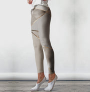 Seamless Metallic Geometry Legging-Just Women Leggings