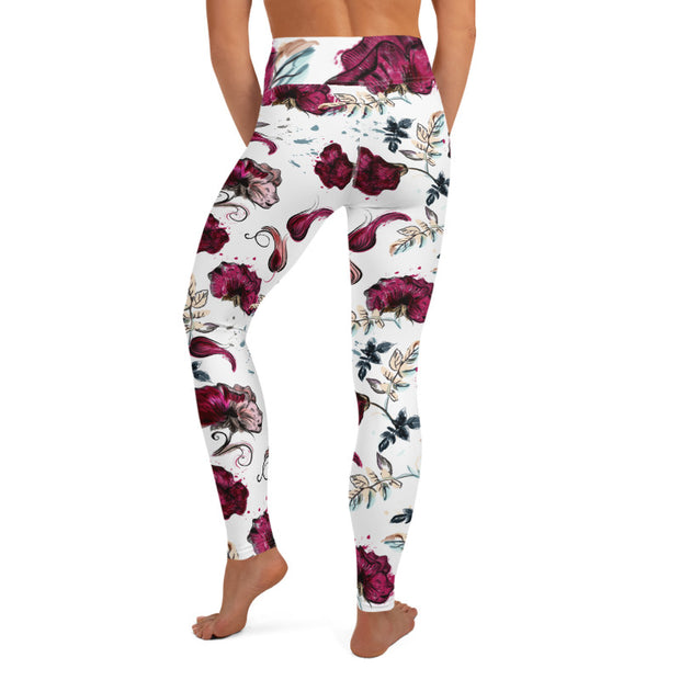 Creative Women Floral Legging-Just Women Leggings