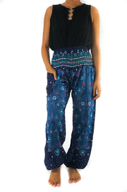 Blue Peacock Women Boho Pant
