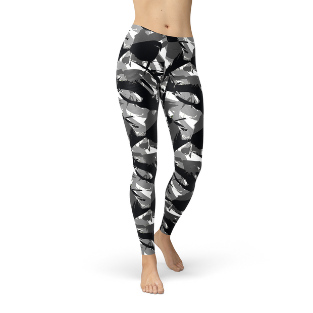 Womens Urban Camo Legging-Just Women Leggings
